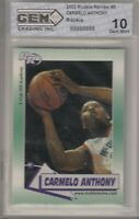 2002 CARMELO ANTHONY ROOKIE REVIEW GEM GRADING MINT 10 RC