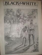 El hambre horrores en la India Rene Bull 1897 antiguos impresión mi ref L