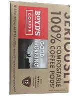 Boyd's Coffee Good Morning Roast 12 Compostable Coffee Pods (Medium Roast)