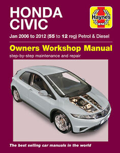 Honda Civic (Jan 06 - 12) Haynes Repair Manual