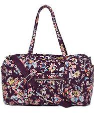 NWT Vera Bradley Iconic Compact Dufflebag Indiana RosE Travel Bag