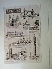 Torchon vintage décoratif.«London»