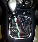 Lancia musa Headset Exchange Leather Black with Embroidery and tricolour