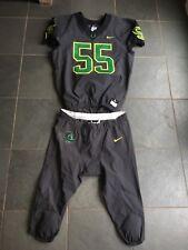 Authentic NIKE Oregon Ducks #55 Football On Field Jersey & Pants LARGE