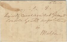1826 Pernice Italy To Malta Entire Letter Mark Postage Due Jan 25 4d #2377
