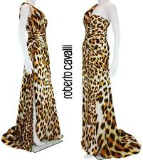 New Roberto Cavalli Leopard Print Silk Corset Dress Gown It. 42 - Us 6