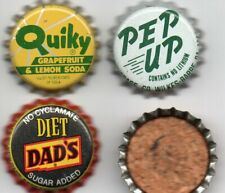 3  unused cork lined bottle caps