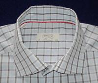 ETON OF SWEDEN MULTI COLOR CROSS STRIPED SHIRT - 15/38cm - SHIRTS - DRESS SHIRTS