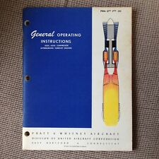 Pratt & Whitney DUAL AXIAL COMPRESSOR AFTERBURNING TURBOJET ENGINES Book 1957