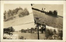 Sharbot Lake Ontario Multi-View Real Photo Postcard