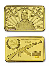 AK47 Rifle Kalaschnikow CCCP RUSSIAN 1947 GOLD  LAYERED INGOT/BAR