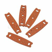 Brown Length 60mm Catapult Slingshot Pouches & Multi Holes Hunting Replace Parts