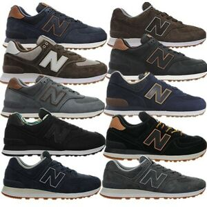 New Balance ML574 Men's Leather Shoes Sneakers Trainer blue black grey Classic
