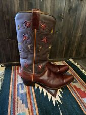 Vintage Frye Cowboy/Western Women's Boots - Floral - Sz 9 M Great Condition