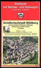 Stadtplan mit Wander- und Radwegen, Schäferlaufstadt Wildberg, um 1996