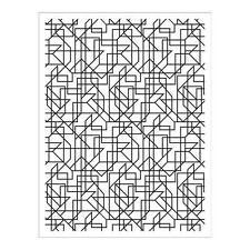 "Hero Arts Lines Background Cling Stamp 4.25""X6.25"""