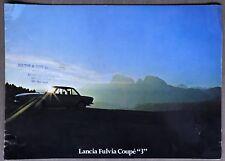 "1975 Lancia Fulvia Coupé ""3"" original sales brochure"