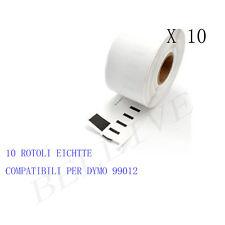 10 Etichette per DYMO 99012 89x36mm LABELWRITER 310 320 330 330 Serie 330 Turbo