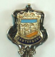 Vintage Canterbury Britain Silver Plated Spoon Souvenir WAPW