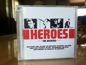 Heroes - The Anthems. 2XCD. 2004 Sony Music. Bowie, The Clash, New Order etc!