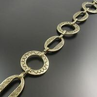 Antiqued Bronze Alloy Necklace Round Link Hand-made Sweater Chain 98CM