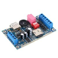 MY-F1090 WAV MP3 Voice Module 10W Sound Player 12V/24V Support SD/TF Card U-Disk