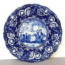 Rare David Copperfield Charles Dickens Historical Blue Plate H.K. Browne Illustr