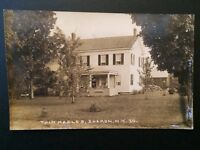 RARE Vintage 1930's Twin Maples RPPC Sharon NY New York Real Photo Postcard B7