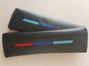 2 x Car Seat Belt Cover Pads Cushion Covers Shoulder Strap Pad for Bmw Mpower