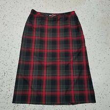 Sag Harbor Women's Career/Work Skirt ~ Sz 18 ~ Red ~ Plaid ~ Long