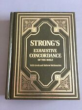 Strong's Exhaustive Concordance of the Bible with Greek & Hebrew Dictionaries HC
