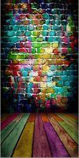 10x20ft Photography Background Vinyl Backdrop Paper Studio Props Colorful Brick
