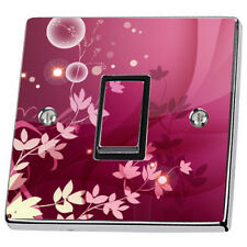Abstract Pink Floral Light Switch & Power Socket Stickers skin decal vinyl cover