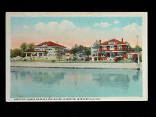 c.1920 Beautiful Homes on River Boulevard Riverside Jacksonville FL post card