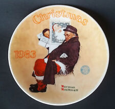 """1983 Norman Rockwell """"Santa in the Subway"""" Classics Knowles Collector Plate"""
