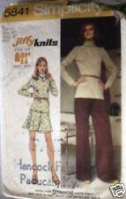 5841 Vintage Simplicity Pattern Pants 1970's SEWING