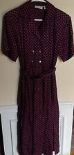 Sanger Harris Vintage Silk Dress Size 6 70's retro proper