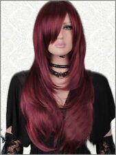 HE-J1301   2016 new pretty long wine red hair lady wigs for women wig