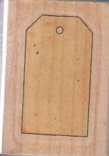 """cutting board stamp cabana  Wood Mounted Rubber Stamp 2 1/2x 1 3/4""""  Free Ship"""