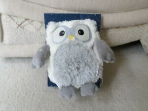 Dream  Microwavable Owl White & Grey. Heatable Cuddly Soft Toy (new)