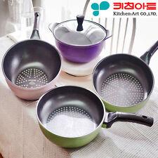 [Kitchen Art] Premium Frying pan Diamond coating Nonstick Cookware Lid 4 set C