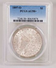 1897-O Morgan silver Dollar Graded  AU 58+  by PCGS