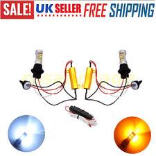 Doble Color Switchback LED luz de señal de vuelta con DRL 44LED T20 1156 BAU15S/BA15S