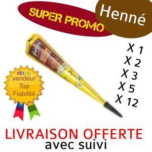 🇨🇵 Cone de henné henna GOLECHA Marron/Bordeau 🚚 Livraison suivi OFFERTE ✅