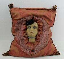 Antique Original Bed Boudoir Doll Velvet Pillow French C.1920