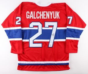 Alex Galchenyuk Signed Canadiens Jersey(Beckett COA) 3rd overall pick,2012 Draft