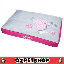 ROGZ Flat Spice Podz Dog Bed Cushion - Large - Pink Paws