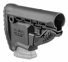 GLMAG Fab Defense Black M4/M16 Survival Buttstock W/ Built in MagCarrier