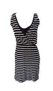 H&M Mama Maternity Nursing Breastfeeding Dress, Size S, Navy Stripe
