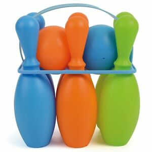 Outdoor Indoor Toys - Plastic Lightweight Bowling Skittles Set Age 3+